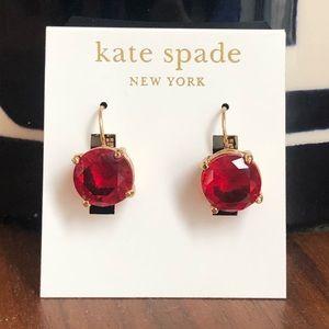 Kate Spade Red Drop Earrings